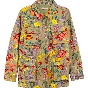 H&M - Floral Army Jacket